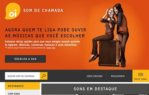 Website – Oi Som de Chamada